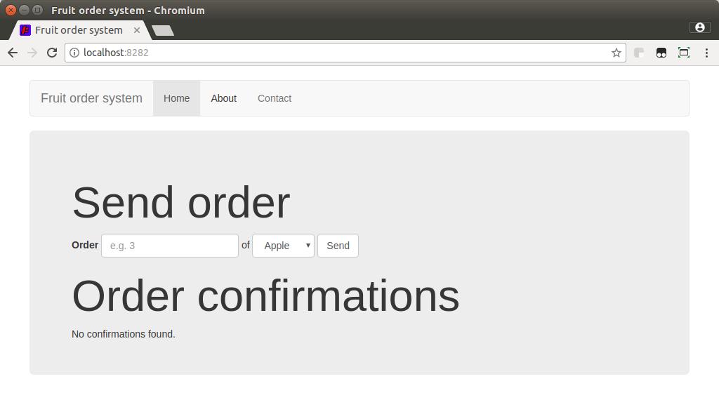 Fruit Order System UI